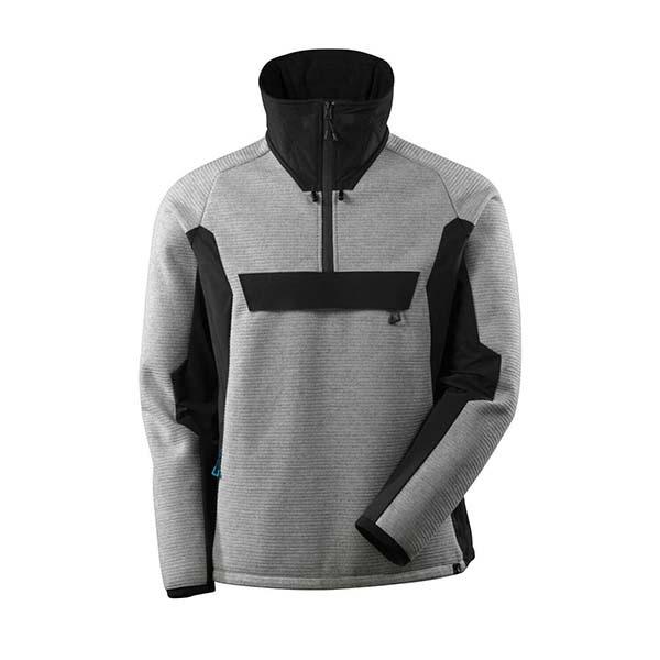 Veste tricot demi-zippé Mascot - ADVANCED gris chiné et noir