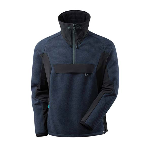 Veste tricot demi-zippé Mascot - ADVANCED marine foncé et noir