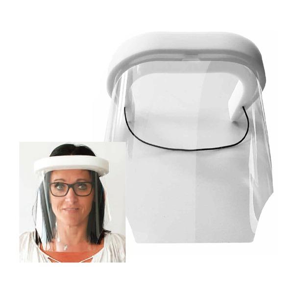 Visière de protection pour le visage - Transparente - Femme