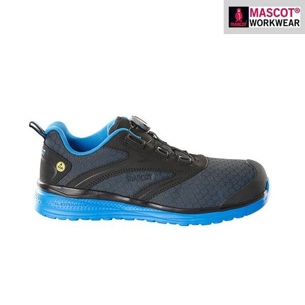 Chaussures de sécurité basses Mascot - Footwear Carbon - Bleu et Noir - Vue de côté