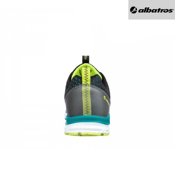 Chaussures de sécurité Albatros AER55 - Impulse Low - Noir et Bleu - Vue de Dos