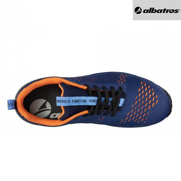 Chaussures de sécurité Albatros AER55 - Impulse Low - Bleu et Orange - Vue de Dessus