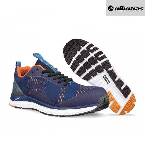 Chaussures de sécurité Albatros AER55 - Impulse Low - Bleu et Orange