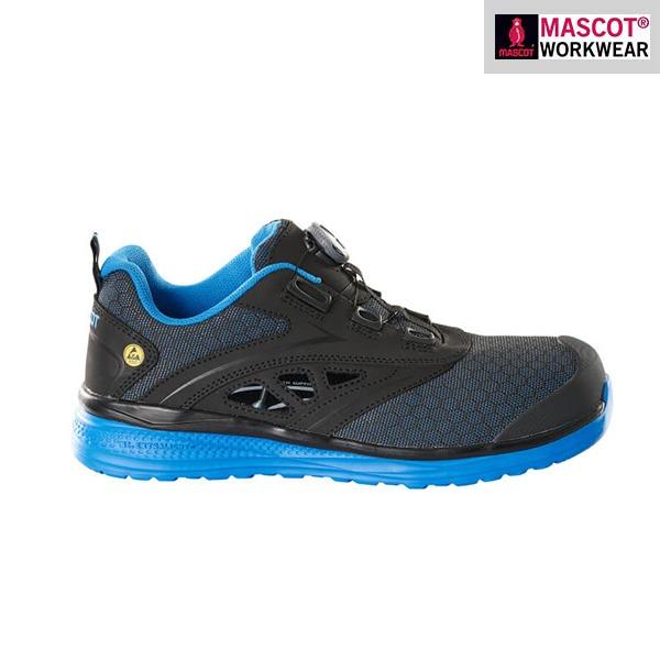Sandales de sécurité Mascot - FOOTWEAR CARBON - Bleu et Noir - Vue de côté