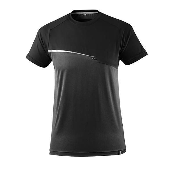T-Shirt Mascot avec poche poitrine - ADVANCED noir