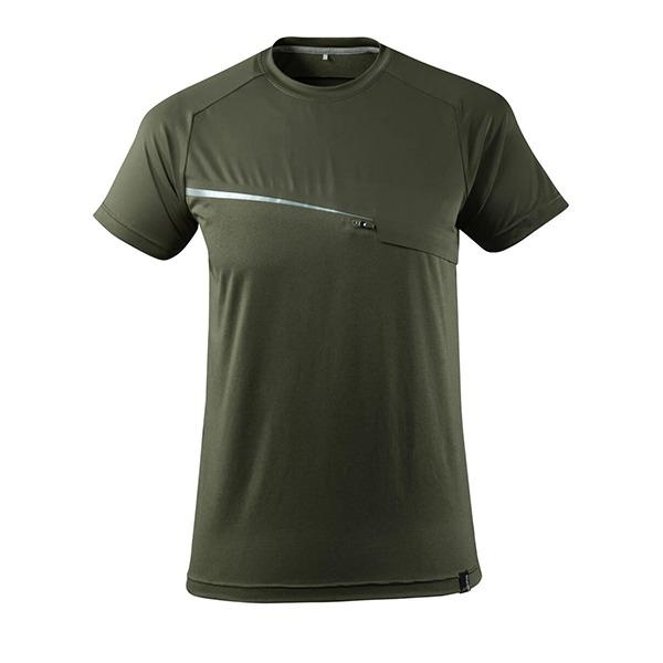 T-Shirt Mascot avec poche poitrine - ADVANCED vert foncé