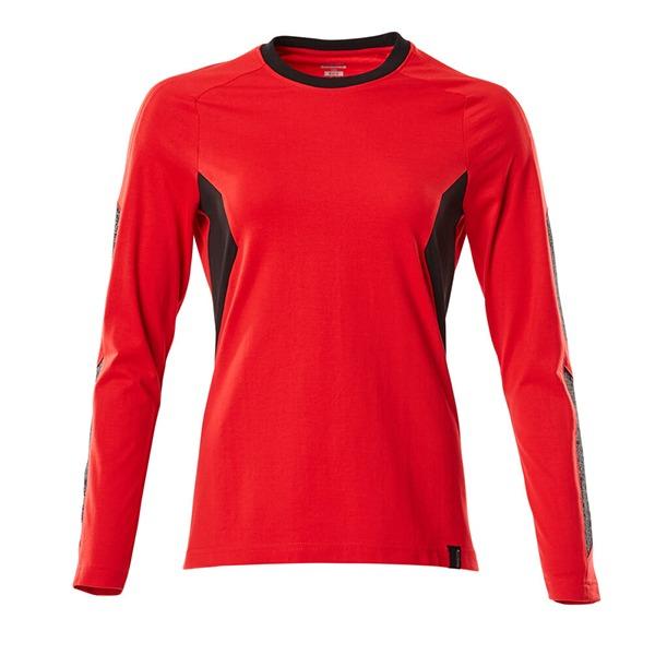 T-Shirt Mascot bicolore - ACCELERATE - Femme rouge trafic et noir
