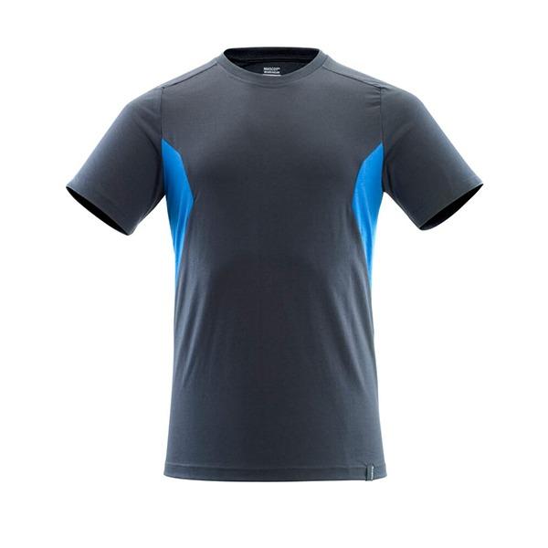 T-Shirt Mascot coupe moderne - ACCELERATE marine foncé et bleu olympien