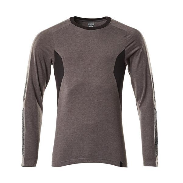T-Shirt Mascot Coupe moderne - Manches longues - ACCELERATE gris foncé et noir