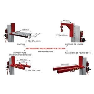 Gerbeur élévateur positionneur manuel - Capacité de 200 à 400 Kg options