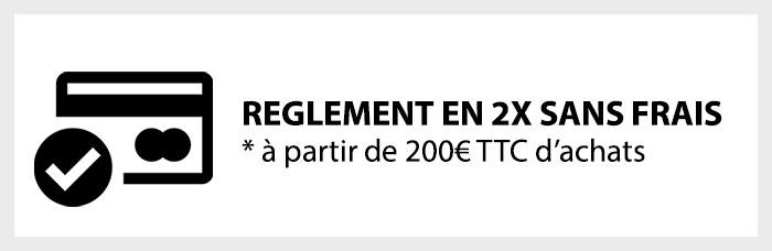 Réglez vos commandes en plusieurs fois sans frais à partir de 200€ TTC d'achats