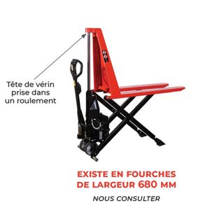 Transpalette haute-levée électrique - Capacité de 1000kg option fourches
