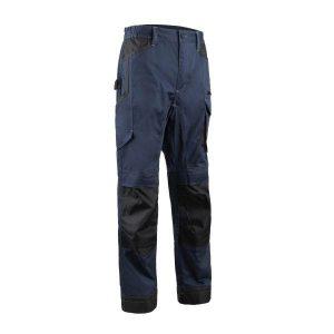 Pantalon de travail avec poches genouillères Coverguard - BARVA bleu nuit et gris