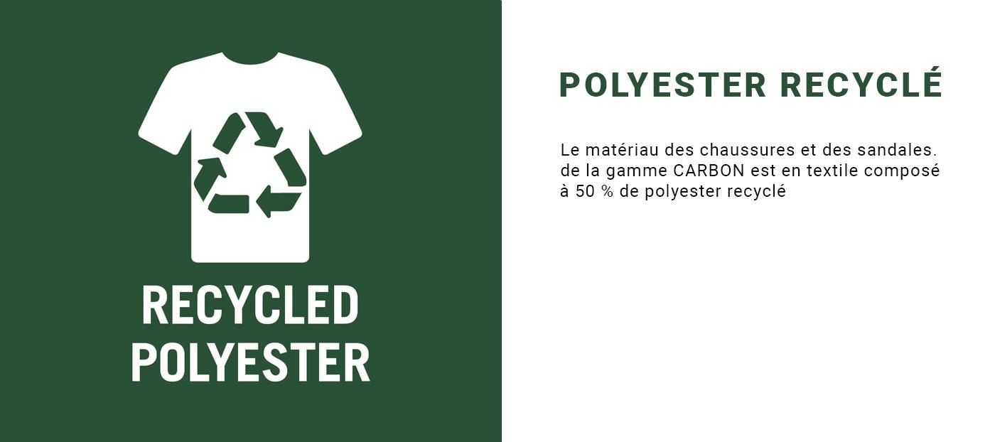 mascot footwear carbon polyester en recyclé