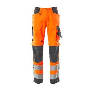 Pantalon Bicolore Avec Poches Genouillères   SAFE SUPREME orange et gris