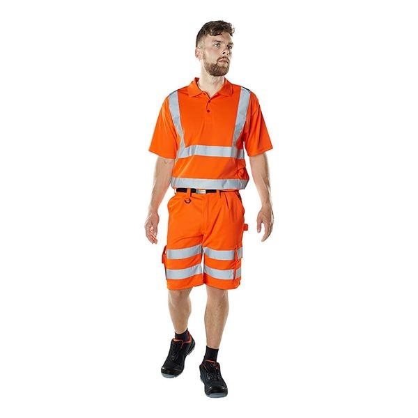 Short De Travail Haute-Visibilité Orange Mascot | PISA modèle