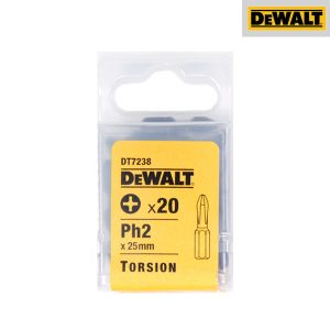 Embouts Torsion Phillips - 25 mm - Par 20 - DEWALT - DT7238