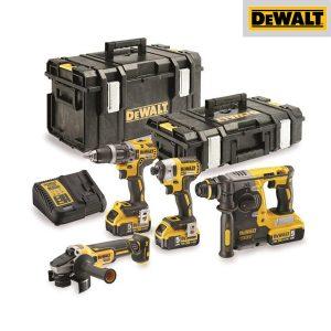 Pack Brushless 4 outils XR 18V 5Ah Li-Ion - DEWALT - DCK422P3
