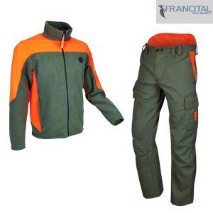 pack francital avec une polaire et un pantalon de travail