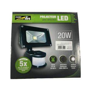 Projecteur LED 20W Avec Détecteur