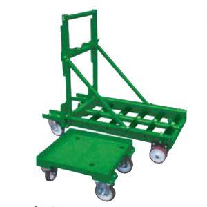 Plateforme à rouleaux sur chariot