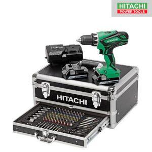Perceuse Visseuse 18V 2,5Ah + accessoires - HITACHI - KC18DJLF